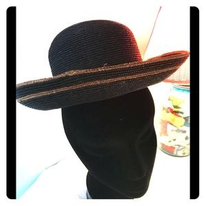 Vintage Shabby Chic Straw Hat Anne of Green Gables